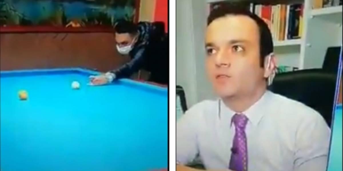 (VIDEO) El oso que le hicieron pasar a Juan Diego Alvira en vivo y en directo