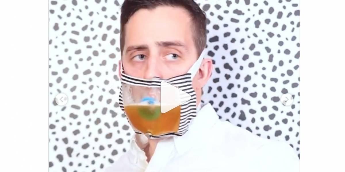 Lo que faltaba: inventan mascarilla con dispensador de cerveza