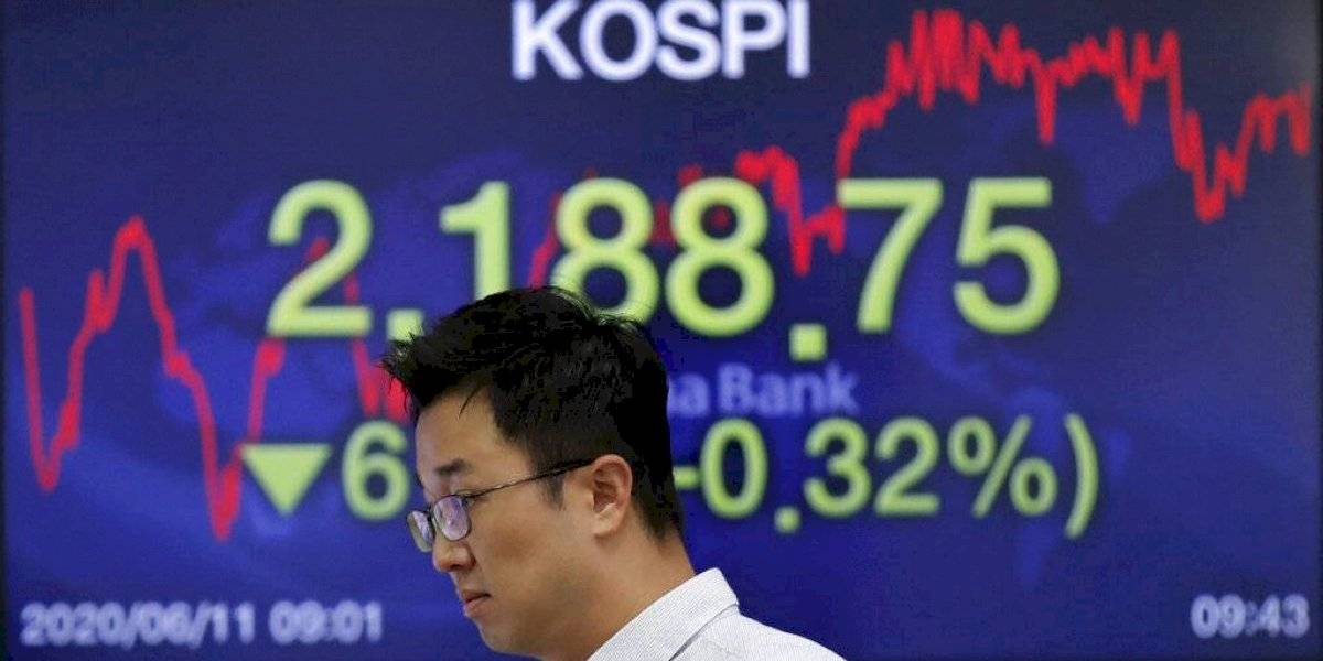 Dow Jones cae 1,800 puntos ante aumento de casos de coronavirus