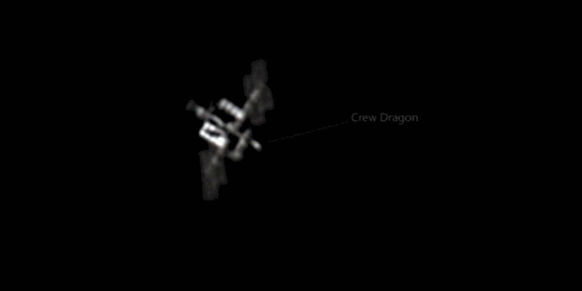 Captan desde Puerto Rico la nave espacial Crew Dragon acoplada a la Estación Espacial Internacional