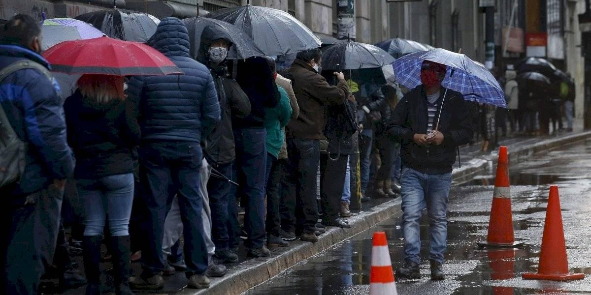 La lluvia de este viernes en Santiago fue la mayor de los últimos dos años