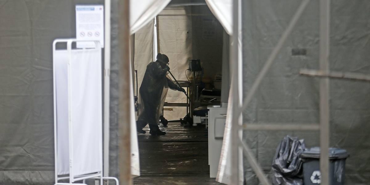 Carpa de Hospital San José se inundó por lluvias: pacientes sospechosos de covid-19 debieron ser trasladados