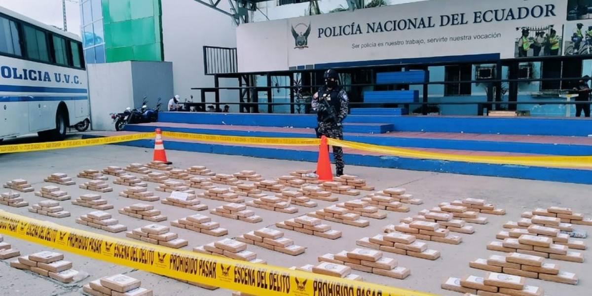 Más de 6 mil gramos de cocaína se incautan en Durán y Guayaquil