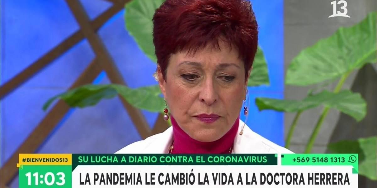 """""""Mis pacientes iban naufragando y no tenía cómo sacarlos"""": doctora Herrera se emocionó y relató la dura tarea de los médicos ante el covid-19"""