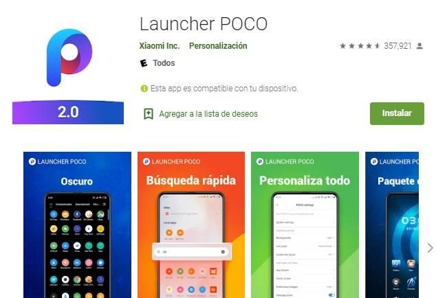 Launcher POCO