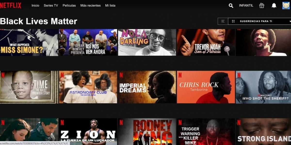 Netflix crea la sección 'Black Lives Matter' en su catálogo