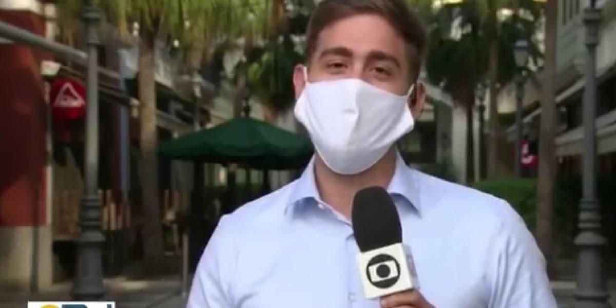 Erick Rianelli, repórter da Globo, se declara para o seu marido ao vivo e viraliza; assista