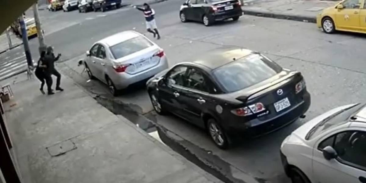 Cámara captan violento asalto en el suroriente de Guayaquil