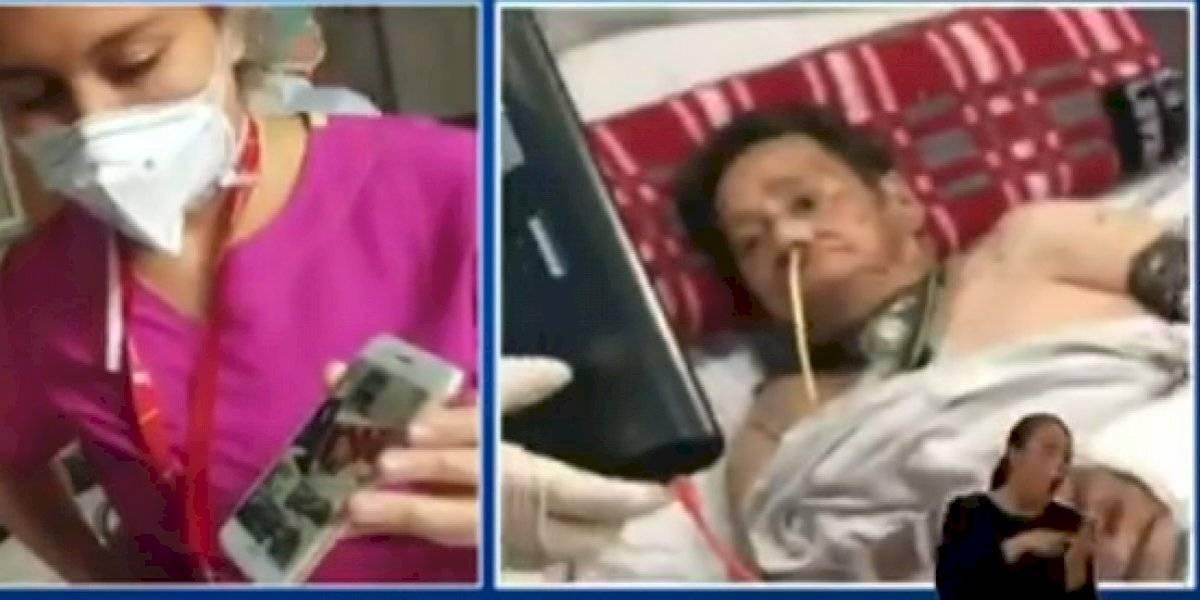 Abuelita de 86 años con coronavirus recibió video de sus familiares y minutos después falleció