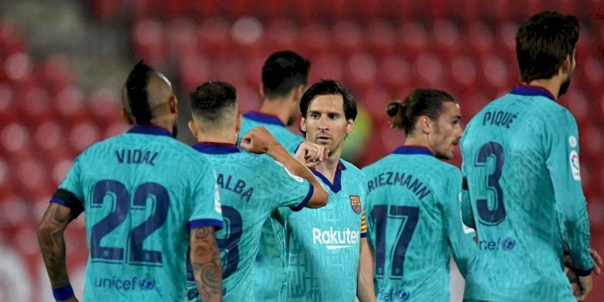 Espontáneo se coló en partido de Barça vs Mallorca ¿sin público?