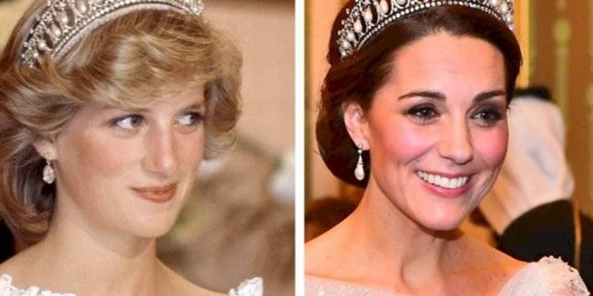 As jóias da princesa Diana que Meghan e Kate herdaram e que parecem perfeitas
