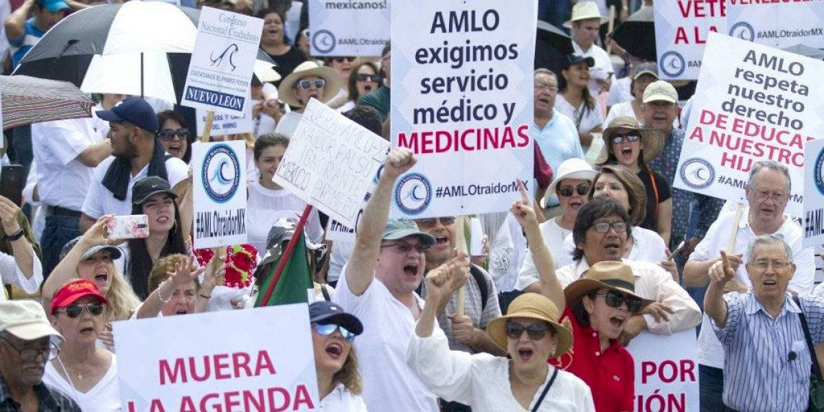 Marchas anti AMLO llegan a ciudades de Estados Unidos
