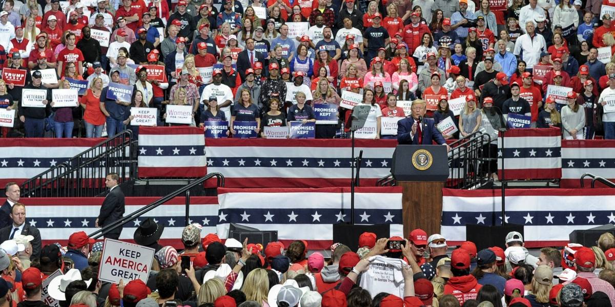 """Evento de Trump calificado de """"peligroso"""" en medio de pandemia"""