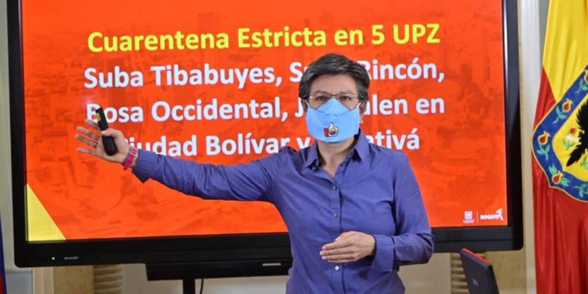 Claudia López anunció cuáles son las zonas que tendrán cuarentena estricta en Bogotá