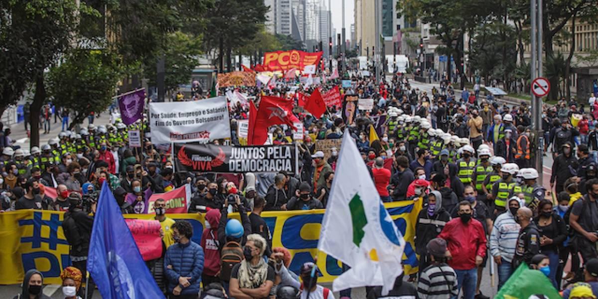 Seis pessoas são detidas em manifestações neste domingo em São Paulo