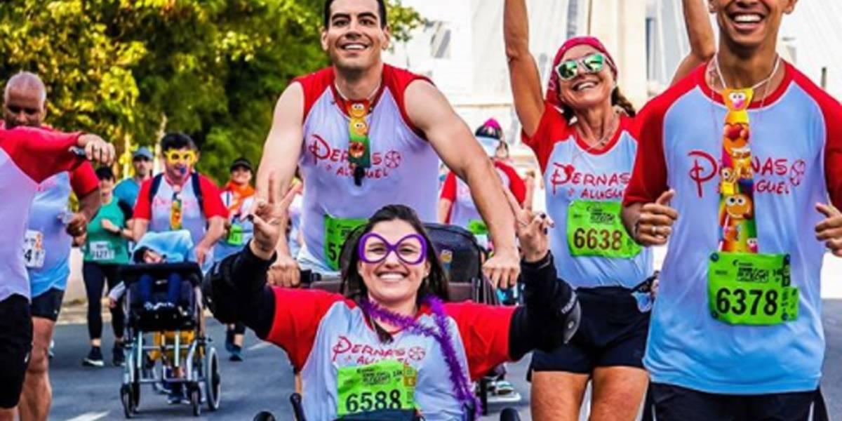 Projeto Pernas de Aluguel movimenta voluntários em Maratona Virtual de Revezamento