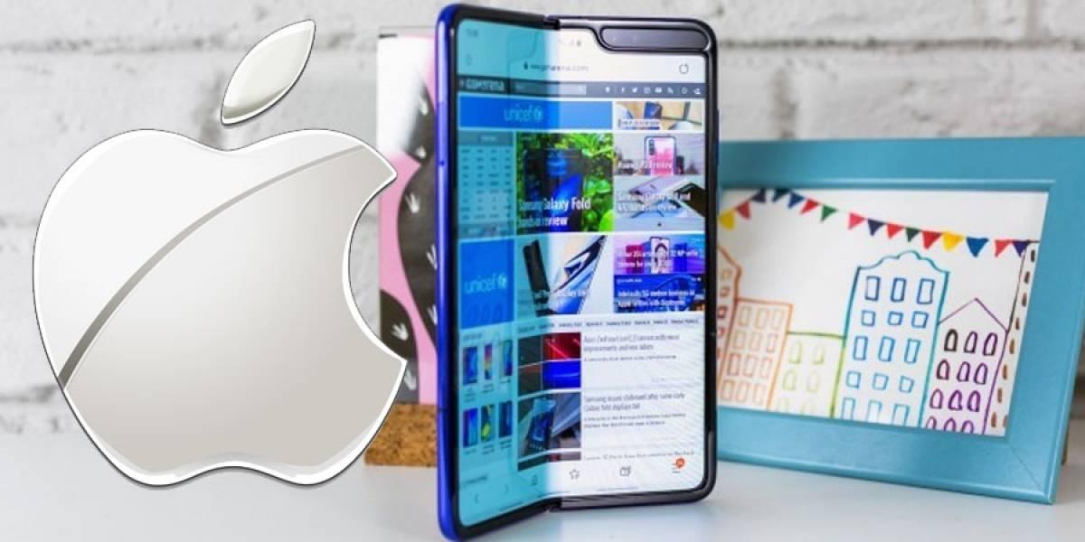 """iPhone: Apple tendría un prototipo de pantalla """"plegable"""" como el Galaxy Fold"""