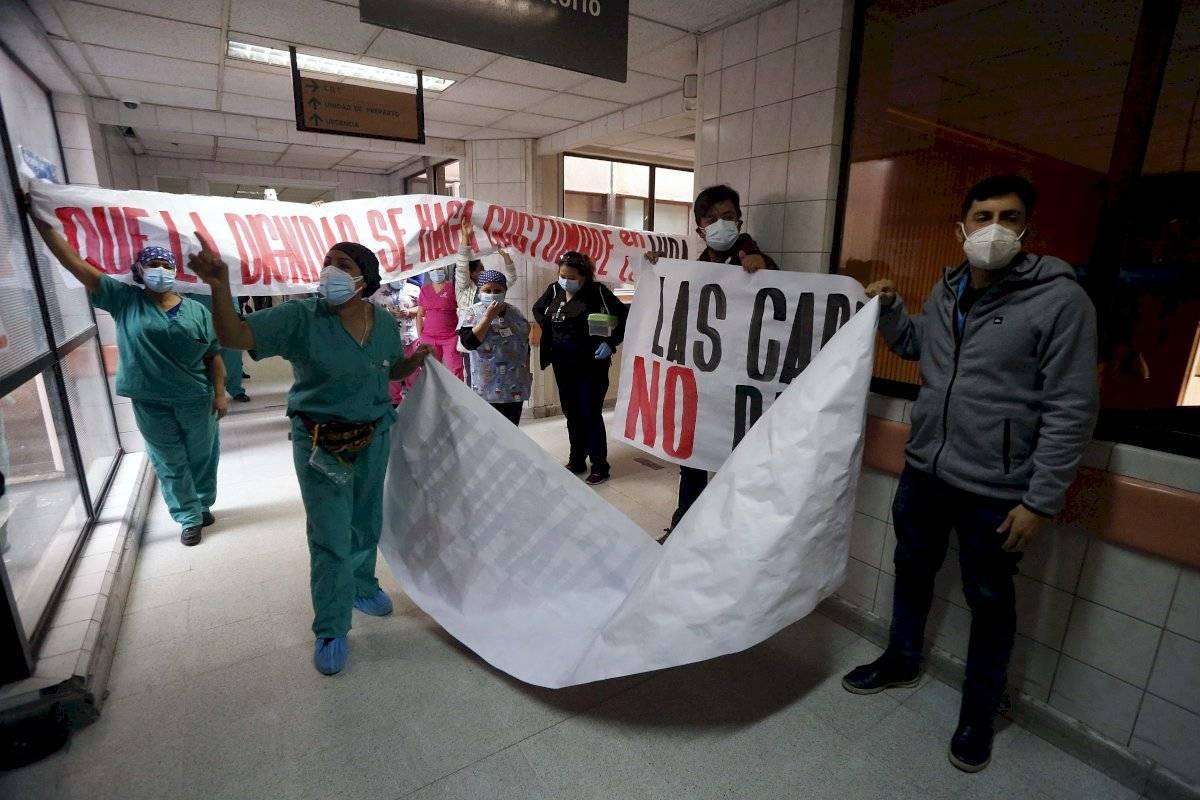 Protesta en el San José