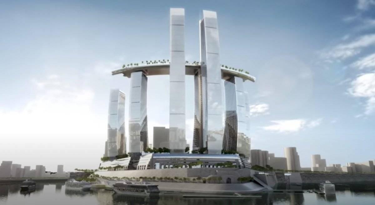 Crystal edificio de China