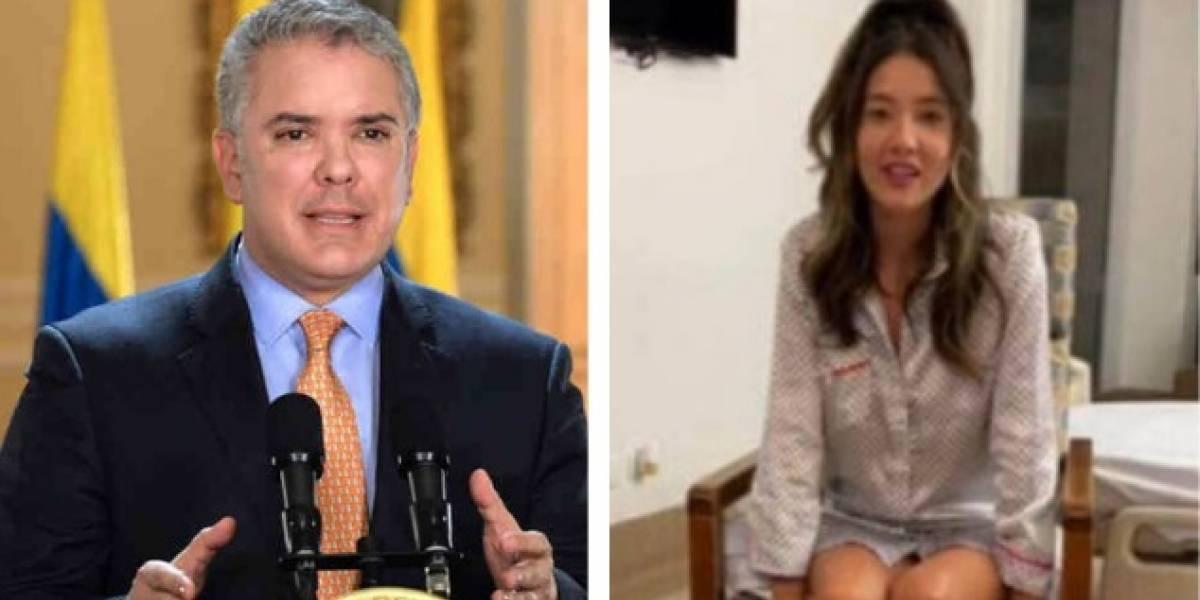 Las duras críticas a Duque por mensaje a Daniella Álvarez