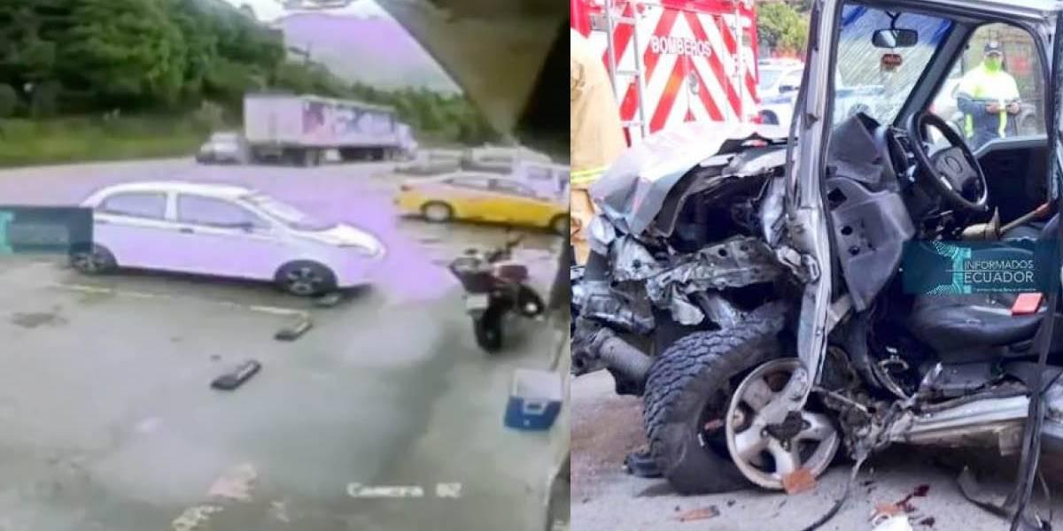 Exalcalde de Guachapala, en Azuay falleció tras choque con un tráiler