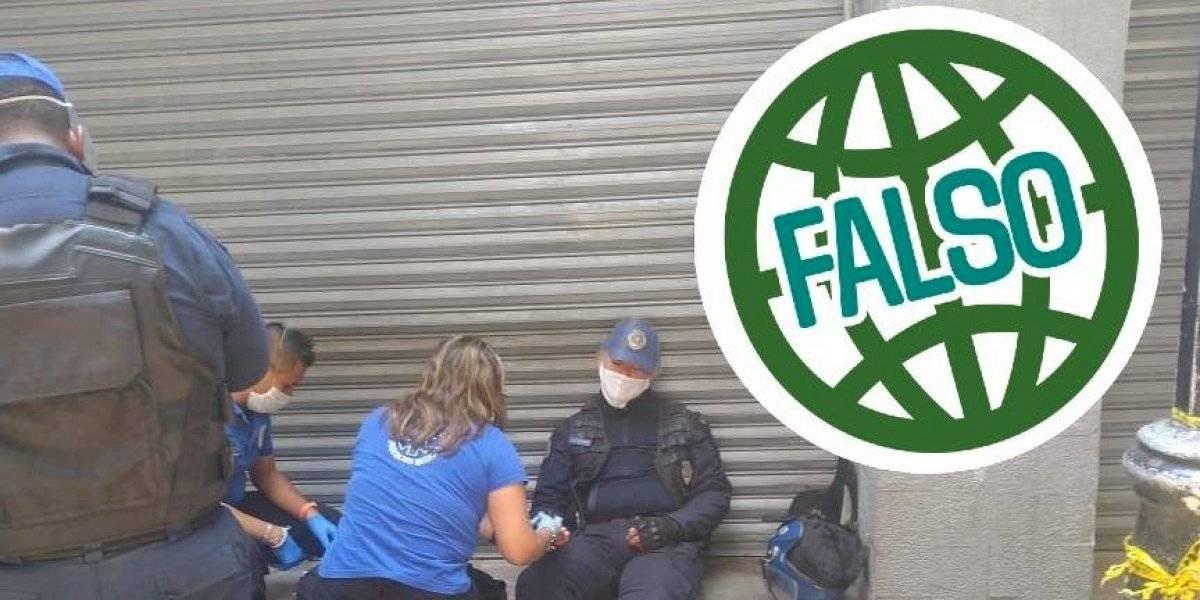 Autoridades desmienten supuesta muerte de policía en plena calle por Covid-19