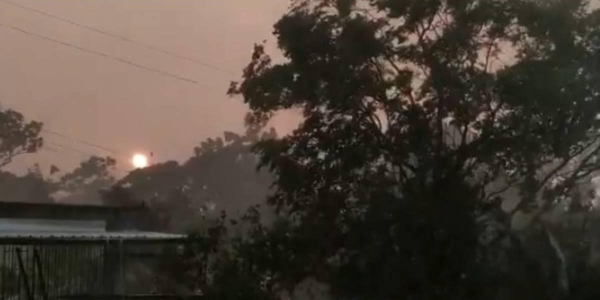 (Video) El extraño fenómeno ambiental en Boyacá que pareció el fin del mundo