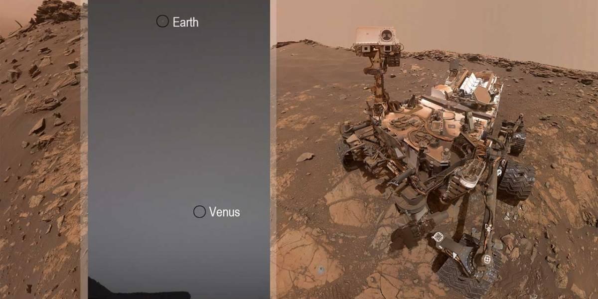 NASA: Esta es la imagen de la Tierra y Venus enviada por el Curiosity Mars Rover
