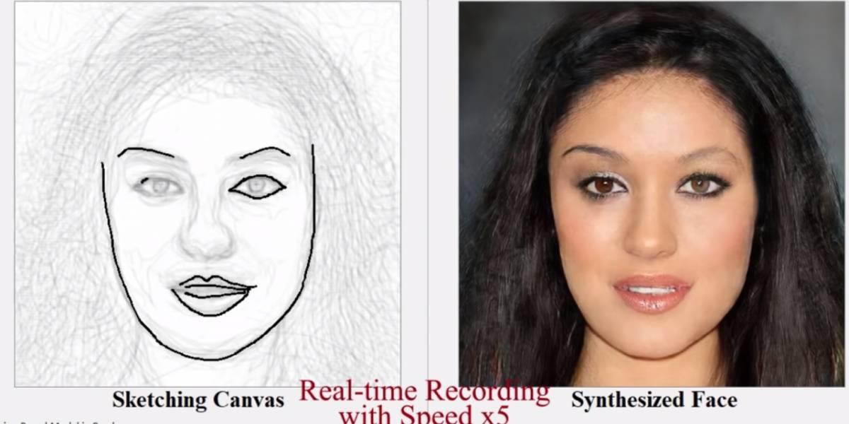 Inteligencia Artificial puede crear rostros realistas viendo sketches solamente