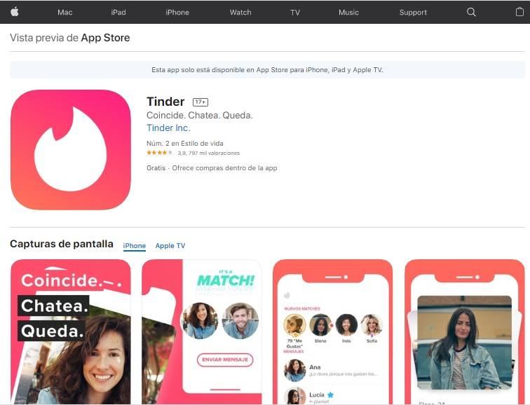 Tinder App Storeq