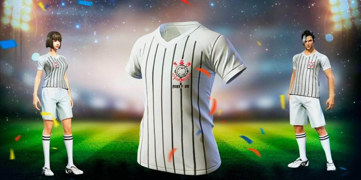 Campeão mundial no Free Fire: camisa oficial do Corinthians chega ao jogo nesta quinta-feira