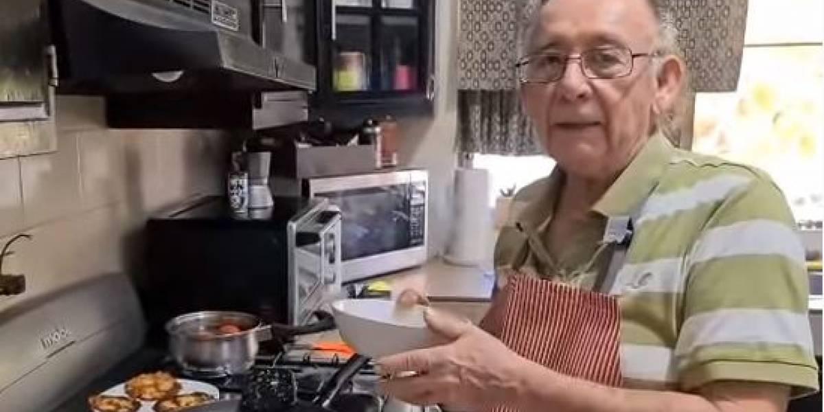 El abuelo que se volvió youtuber de cocina tras de perder su trabajo por el coronavirus