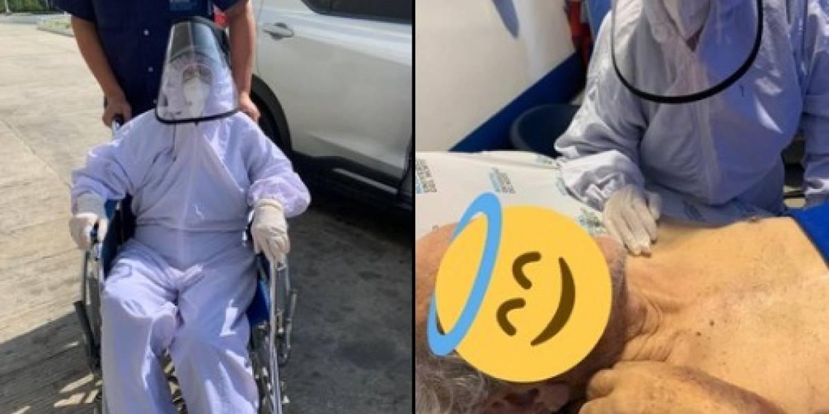 Historia de amor: Abuela de cien años se despide de su esposo en hospital