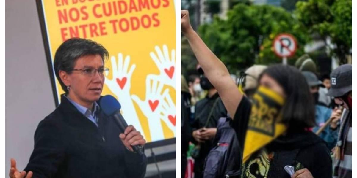 """""""Sus padres aún no han venido a recogerla"""": Claudia López sobre menor detenida en protestas"""