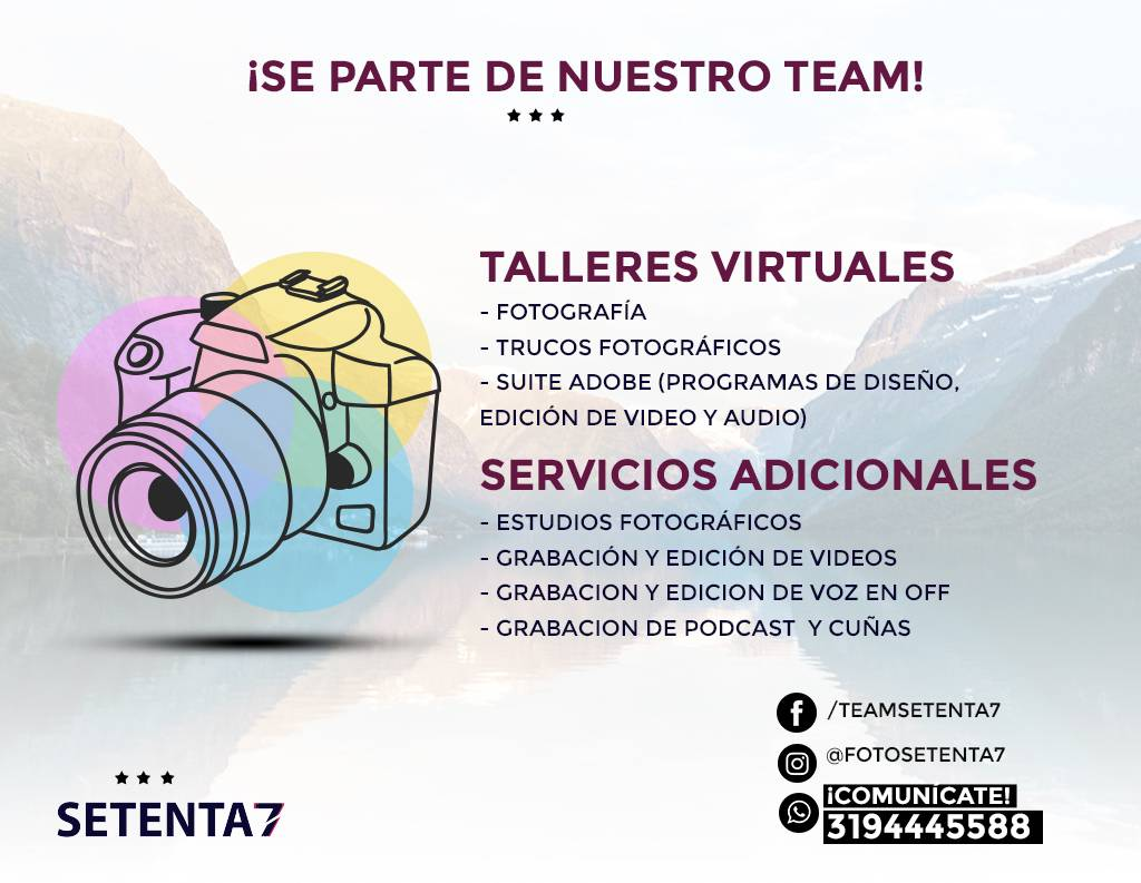 Agencia Setenta 7: talleres virtuales para ti