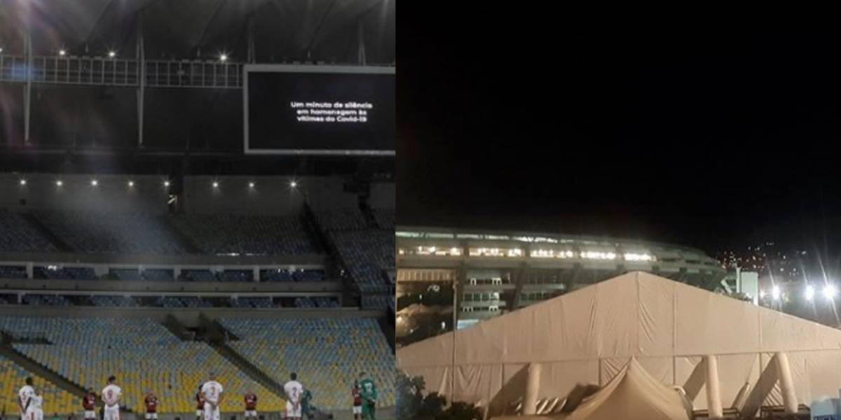 ¡Contrastes en la pandemia! Escalofriante imagen dejó el regreso del fútbol brasileño
