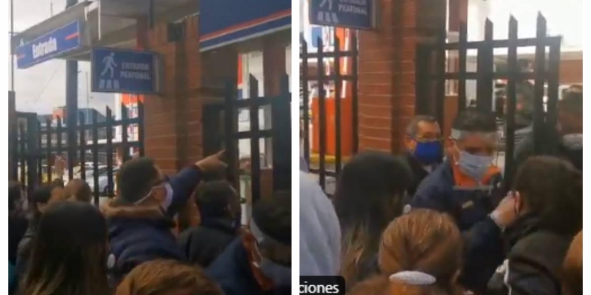 (VIDEO) Largas filas, tumultos y agitación, así inició el día sin IVA en Bogotá