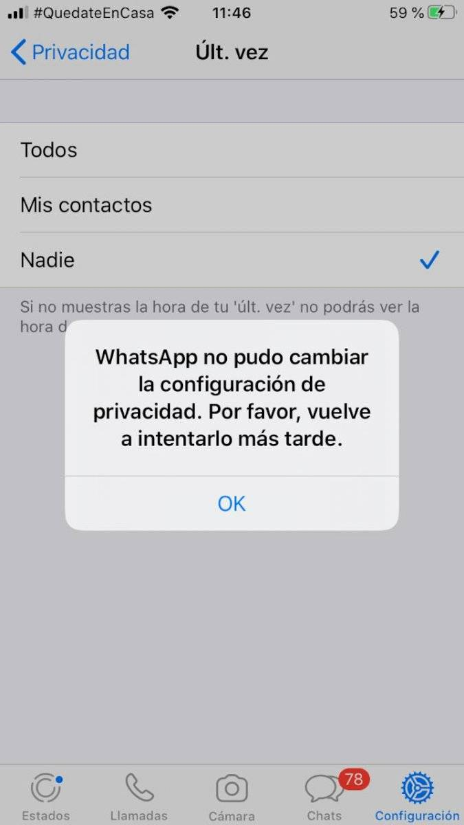El problema de WhatsApp