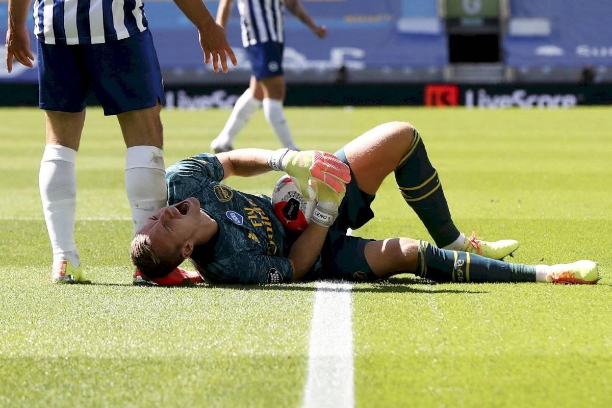 Se escuchó el grito de dolor: escalofriante lesión de Bernd Leno, arquero del Arsenal