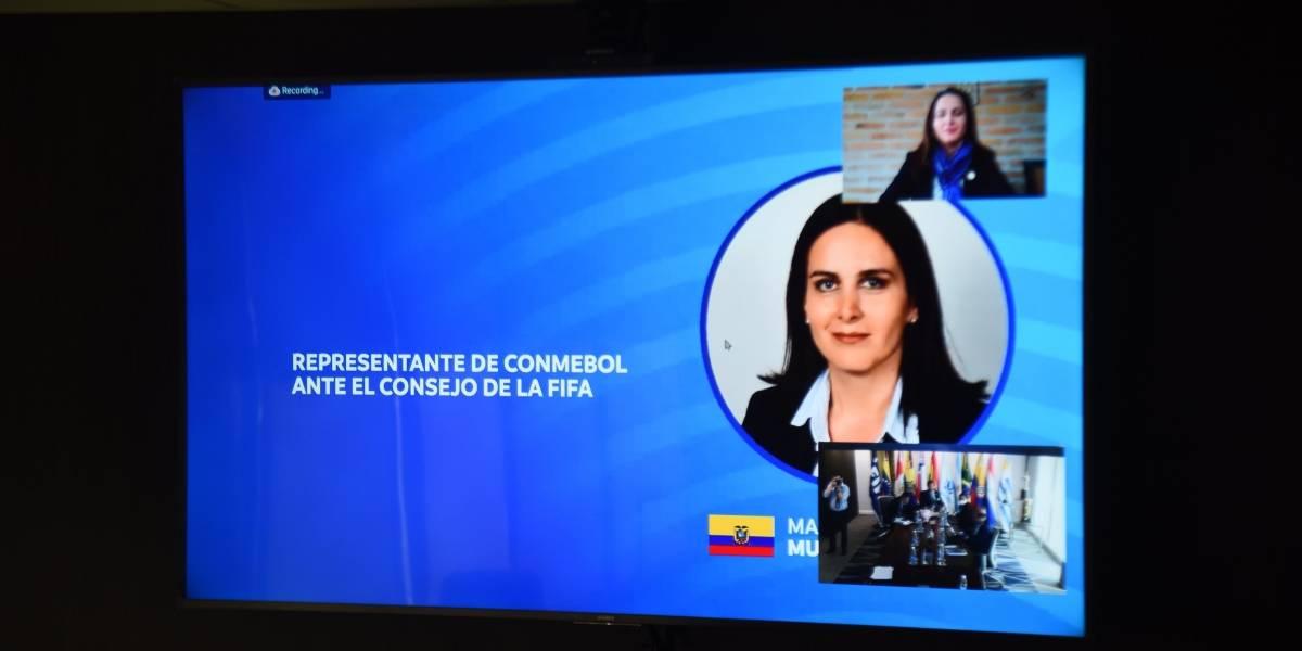 Quién es María Sol Muñoz, ecuatoriana reelecta como representante de Conmebol ante la FIFA