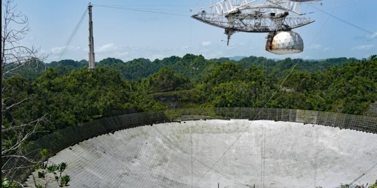 Publican momento exacto en que colapsó la plataforma del Observatorio de Arecibo
