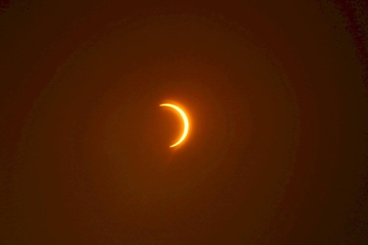 Eclipse solar anular parcial visto desde Pakistán
