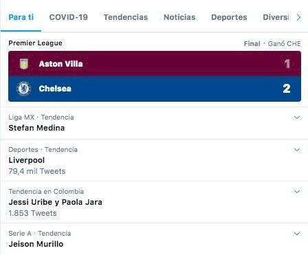 2. Hacen tendencia Stefan Medina por repetición de Colombia VS Chile