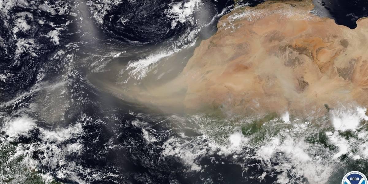 Sorpresa por nube de polvo gigante que se acerca a América desde el Sahara