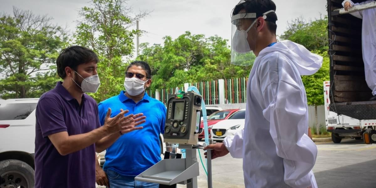 Gobierno envió a Barranquilla 25 respiradores más ante alerta naranja por coronavirus