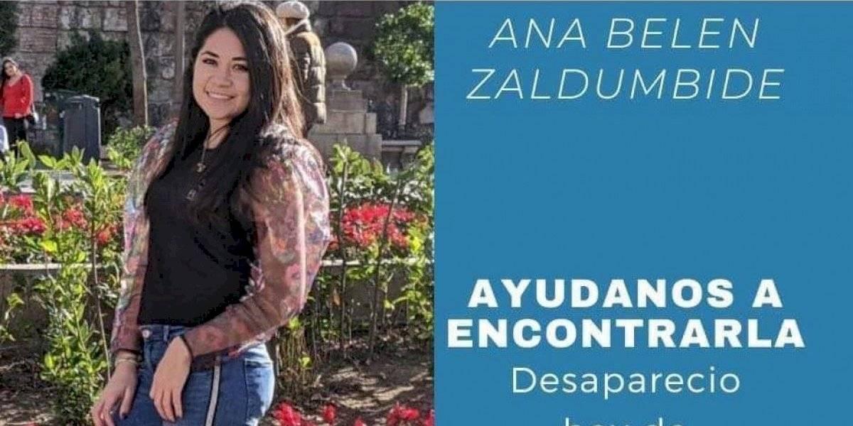 Policía encontró a Ana Belén Zaldumbide, desaparecida en Conocoto