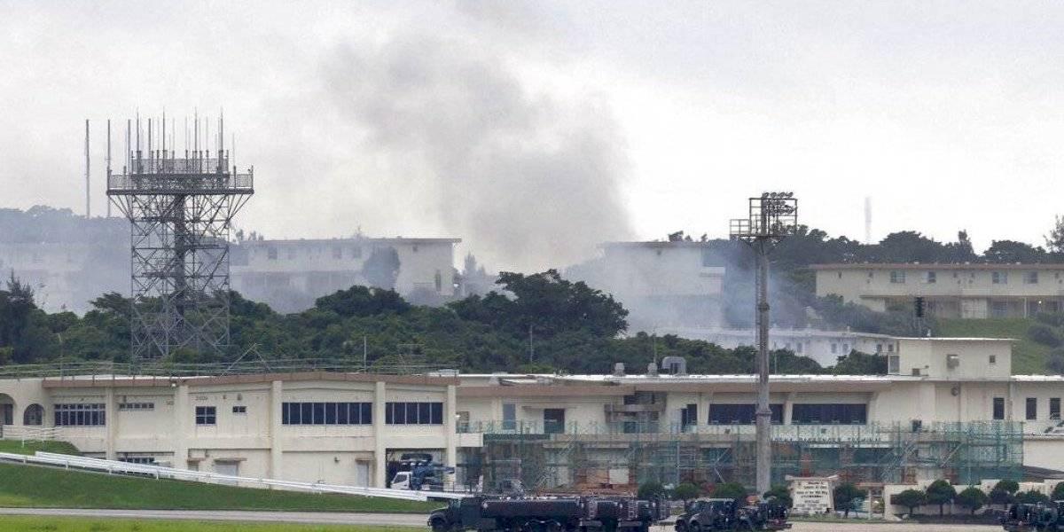 Fuego en almacén de sustancias peligrosas en base EE. UU. en Japón