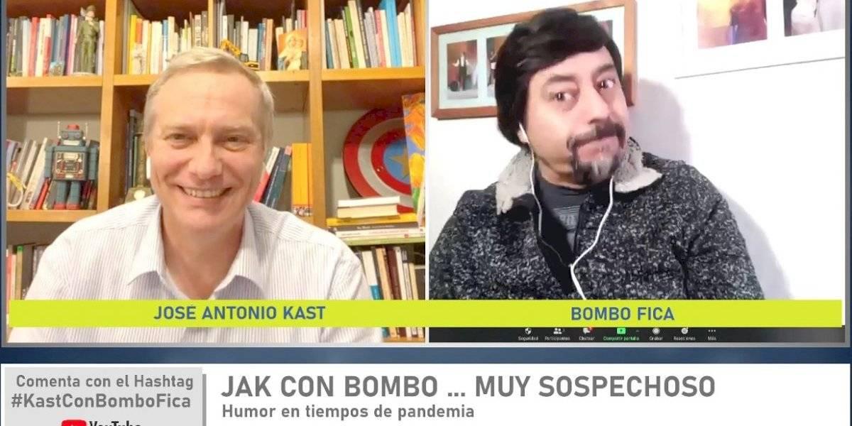 José Antonio Kast presenta a su nuevo invitado en YouTube: Bombo Fica