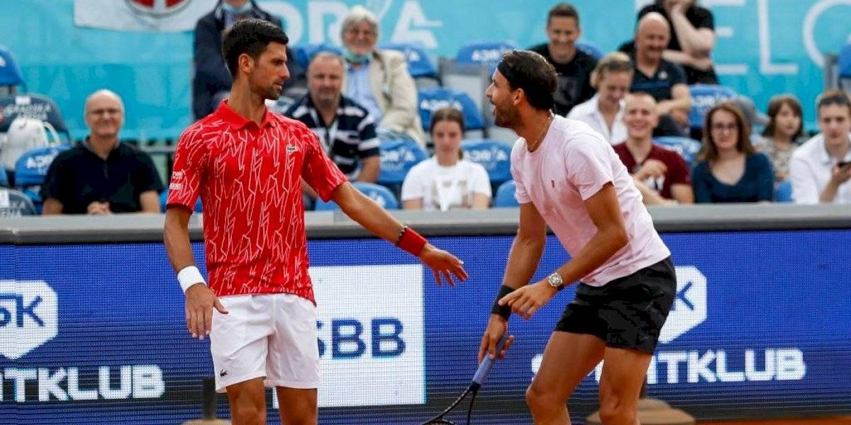 Controversia en el tenis: Dimitrov, Coric y dos entrenadores dan positivo por covid-19 tras participar en torneo de Djokovic