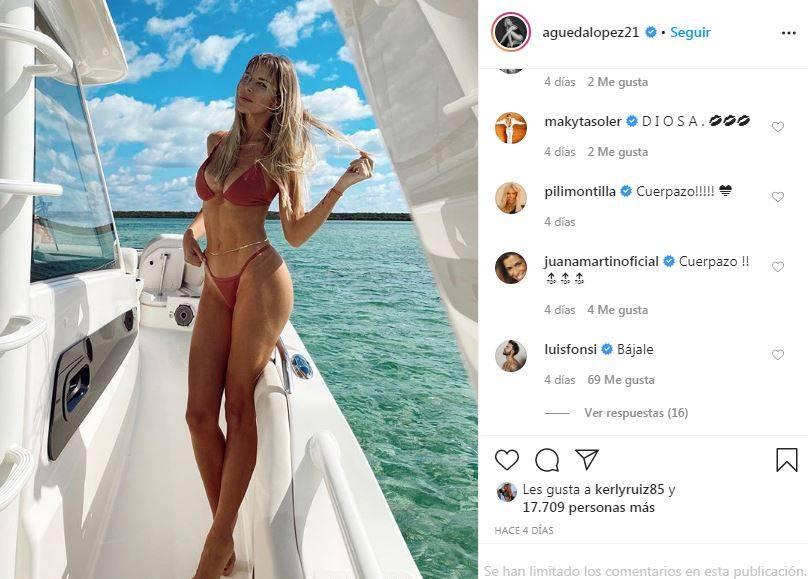 Esposa de Luis Fonsi comparte fot o en bikini y el cantante reacciona en sus comentarios